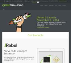 ZeroTurnaround website history