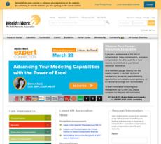 WorldatWork website history