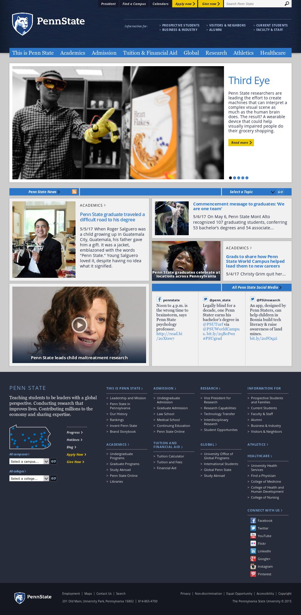 The Pennsylvania State University Competitors, Revenue and