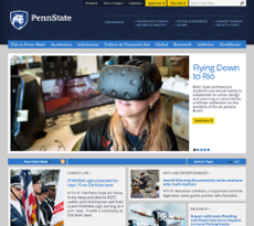 The Pennsylvania State University  website history