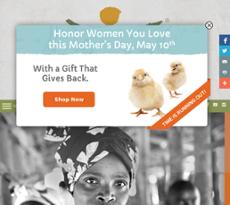 Women for Women International website history