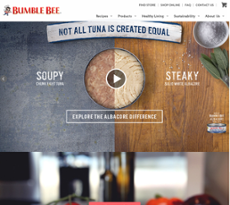 Bumble Bee Seafoods website history