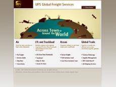 UPS Freight website history