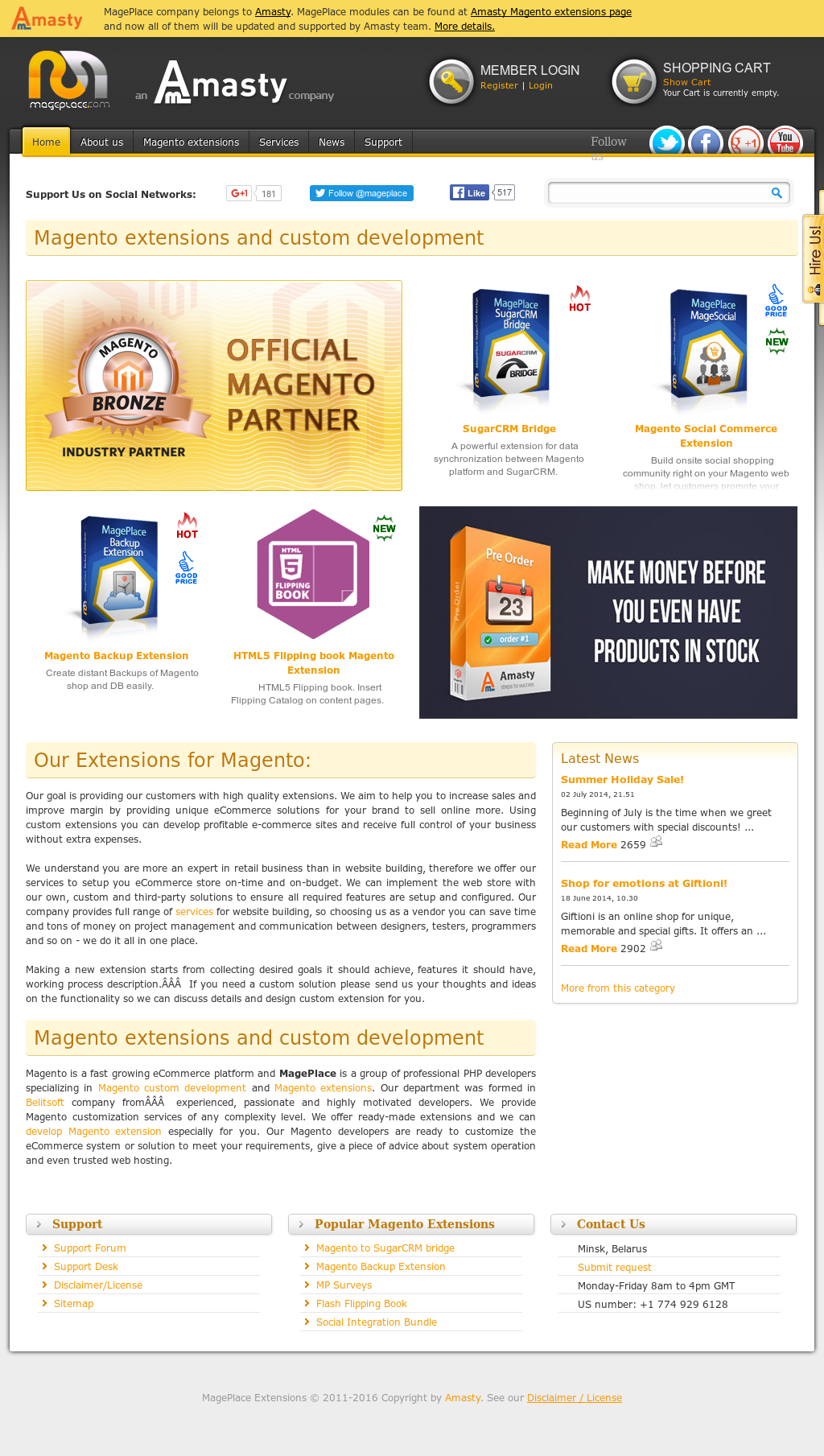 Owler Reports - MagePlace Blog Freebie: Magento Modified