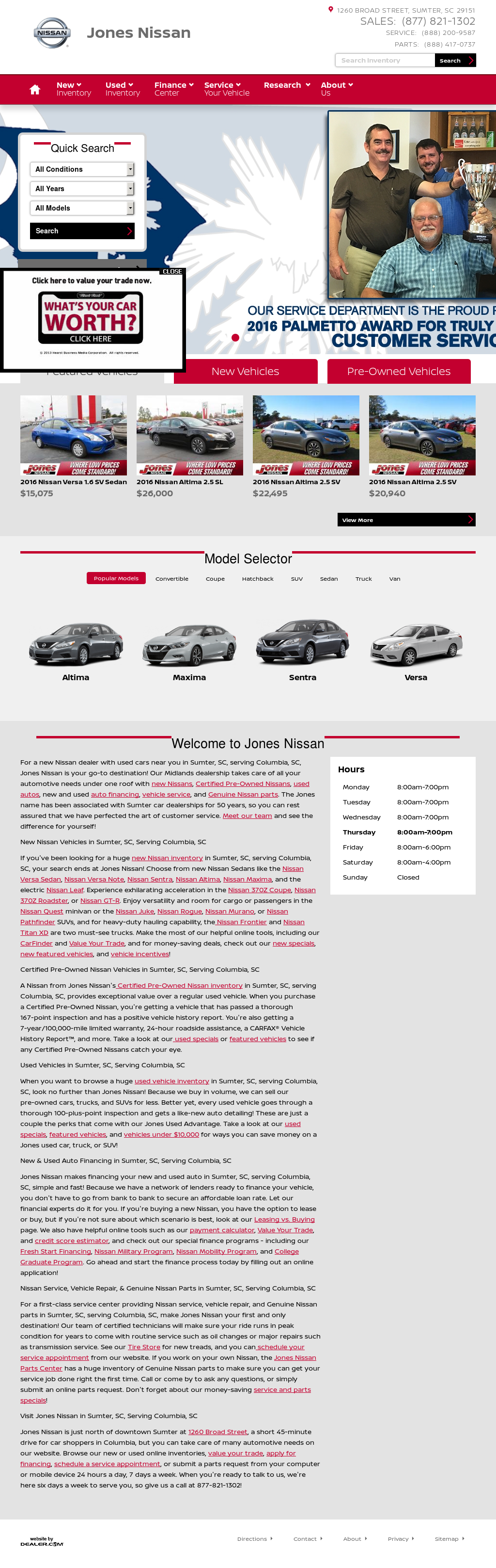 Jones Nissan Petitors Revenue And Employees Owler Pany Profile Jones Nissan  Sumter Sc U003eu003e ...