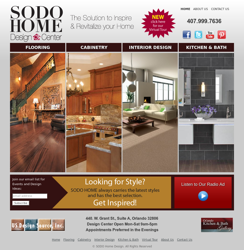 SODO Home Design Center Website History