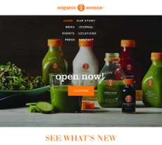 Organic Avenue website history