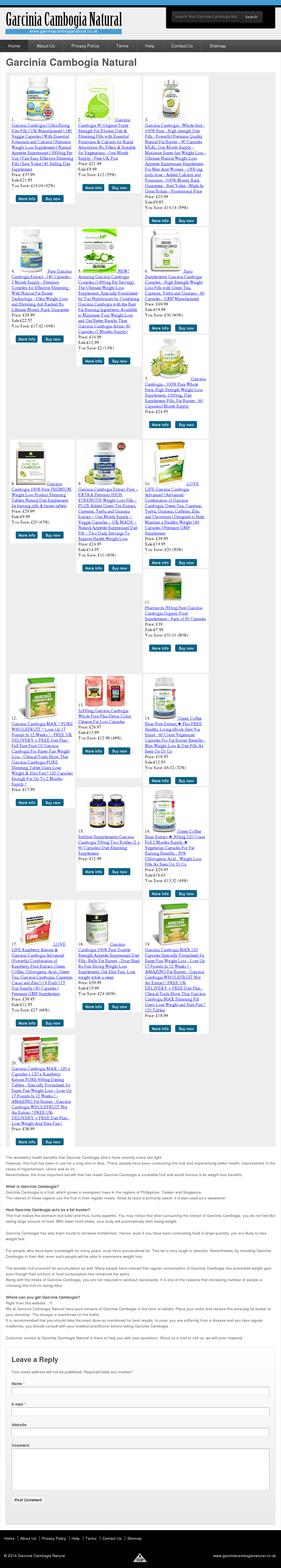 Garcinia Cambogia Natural Competitors, Revenue and Employees