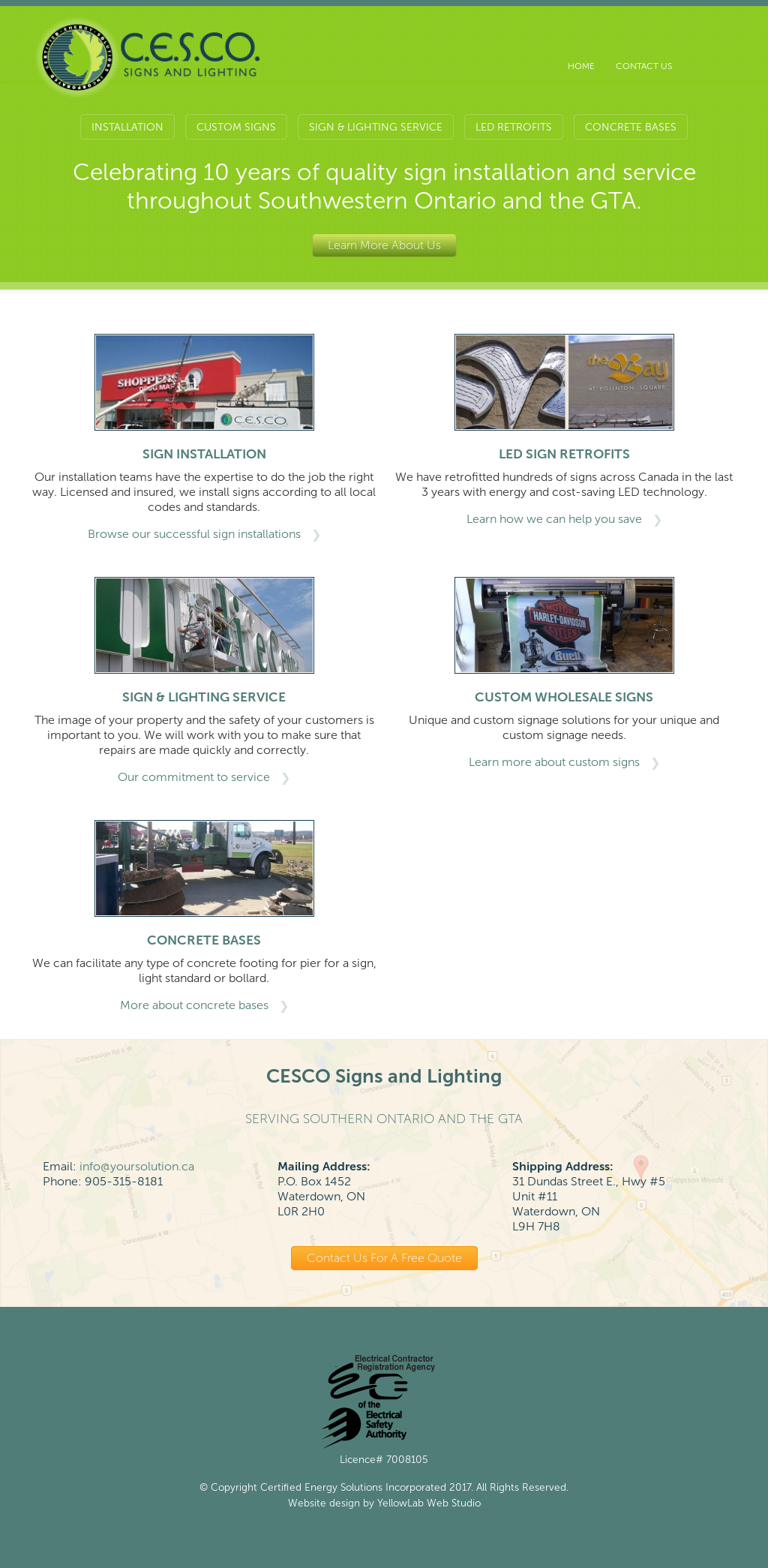 Cesco Signs And Lighting Compeors Revenue Employees