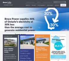 Bruce Power website history