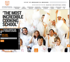 International Culinary Center website history