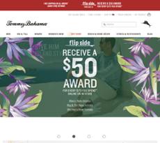 Tommy Bahama website history