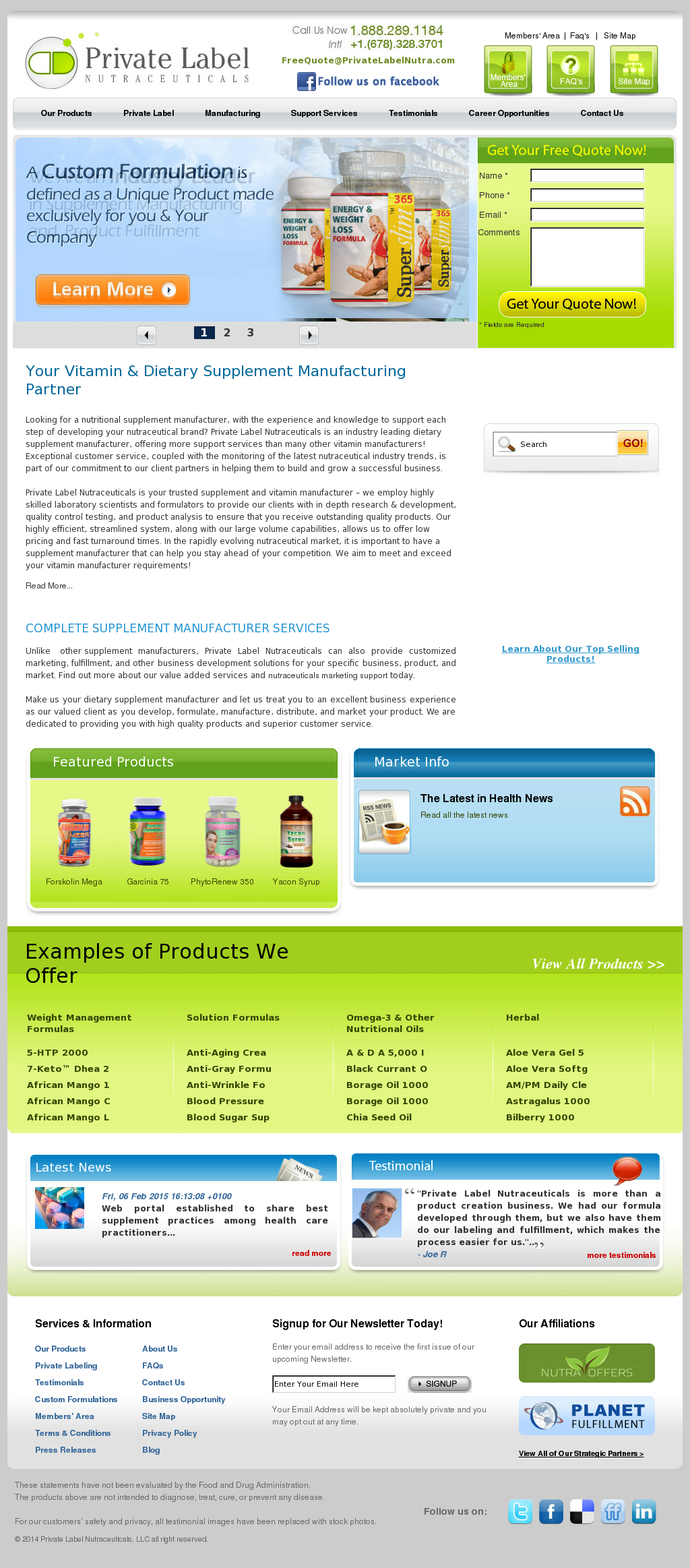 Private Label Nutraceuticals Competitors, Revenue and Employees