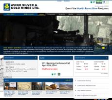 Avino website history