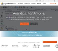 RapidMiner website history