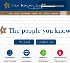 Texas Regional Bank website history