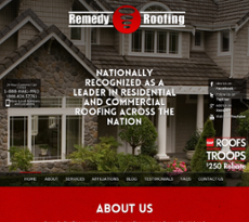 Remedy Roofing Website History