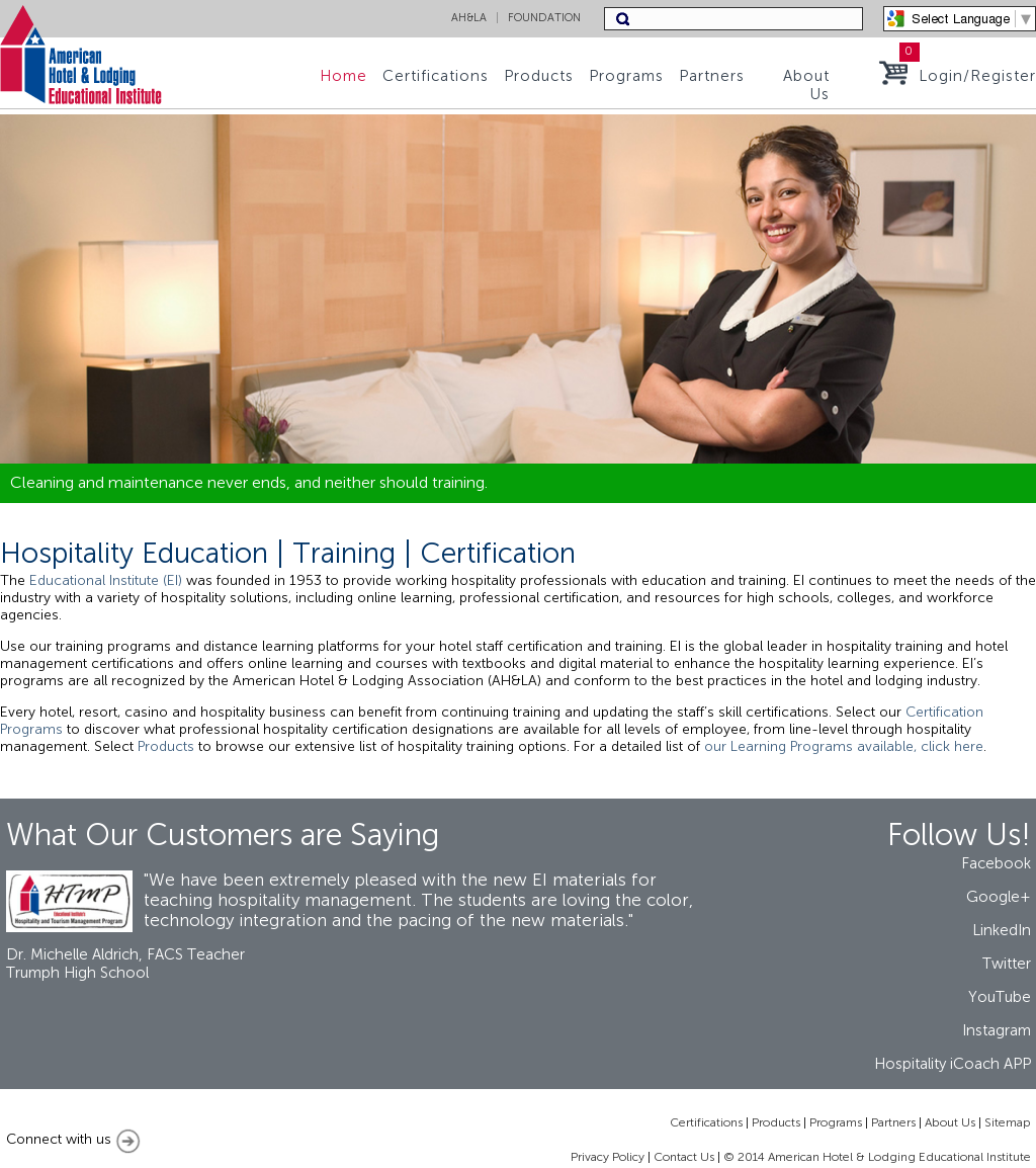 American Hotel & Lodging Educational Institute Competitors