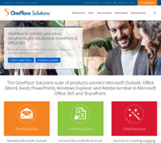 OnePlace Solutions website history