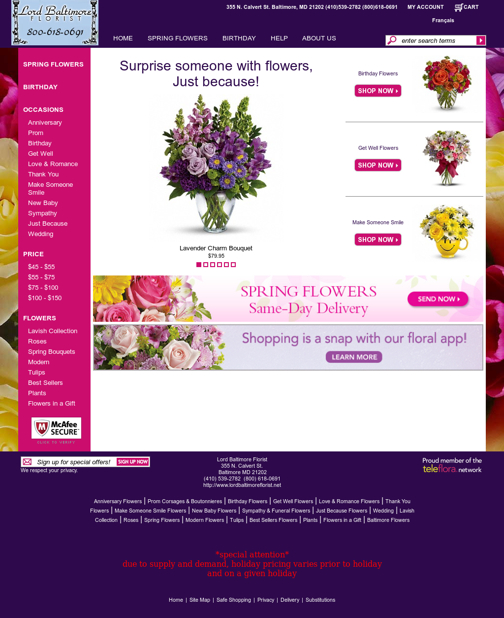 Lord Baltimore Florist Competitors Revenue And Employees Owler