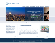 CSG Partners website history