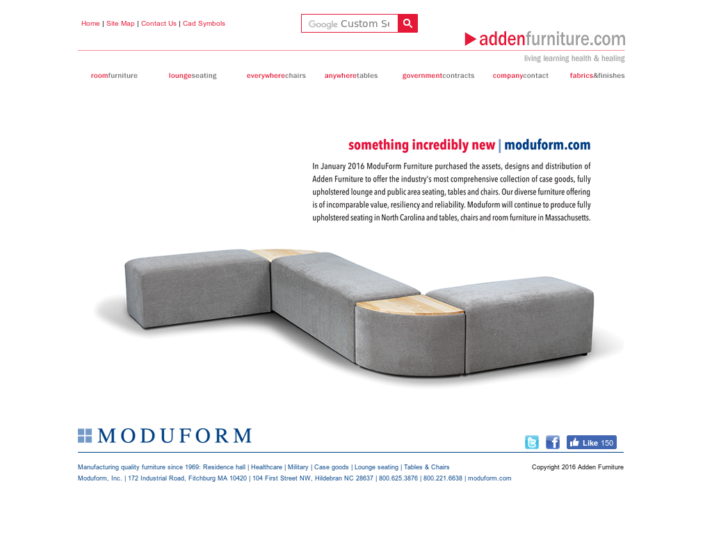 Adden Furniture Website History