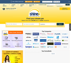 Shine website history