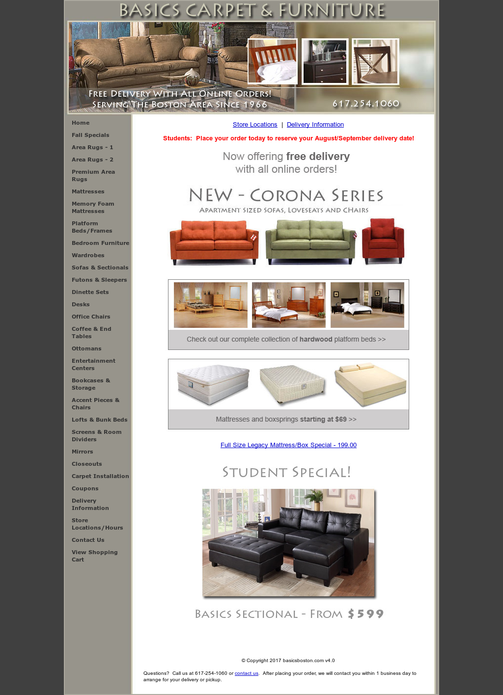 Basics Carpet U0026 Furniture Website History