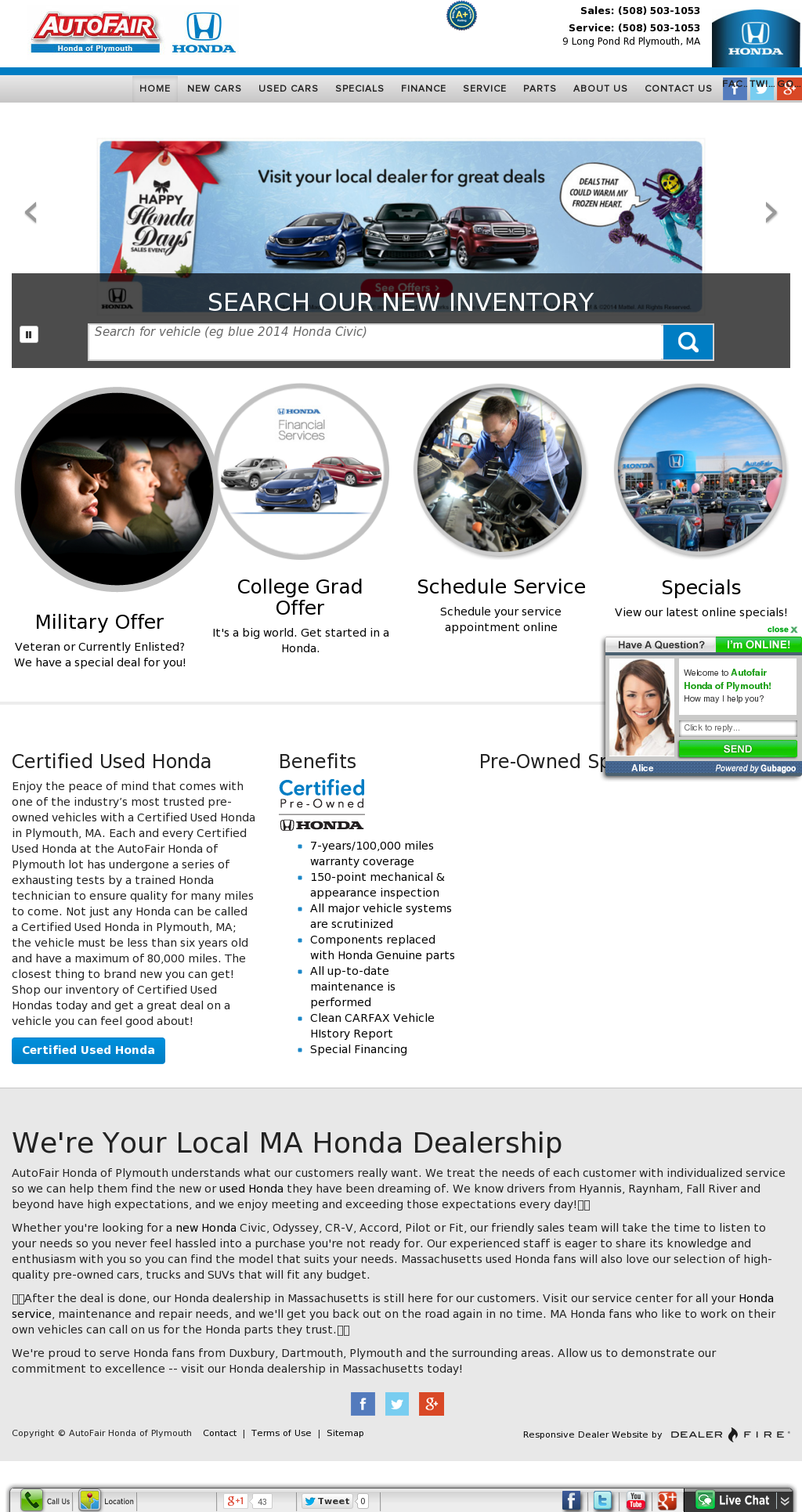 AutoFair Honda Of Plymouth Competitors, Revenue And Employees   Owler  Company Profile