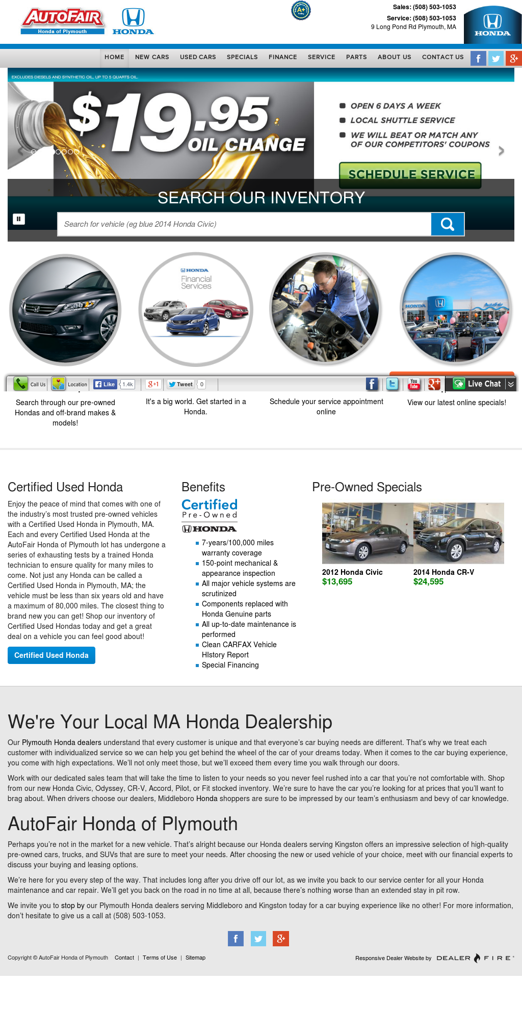 Marvelous AutoFair Honda Of Plymouth Competitors, Revenue And Employees   Owler  Company Profile