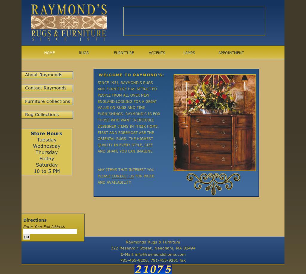 Beau Raymonds Rugs U0026 Furniture Website History