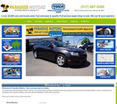 Paradisemotors website history