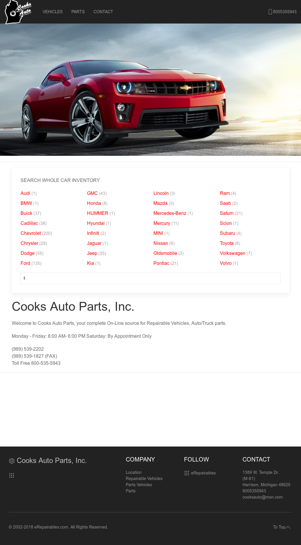 Cooks Car Company >> Cooks Auto Parts Competitors Revenue And Employees Owler Company