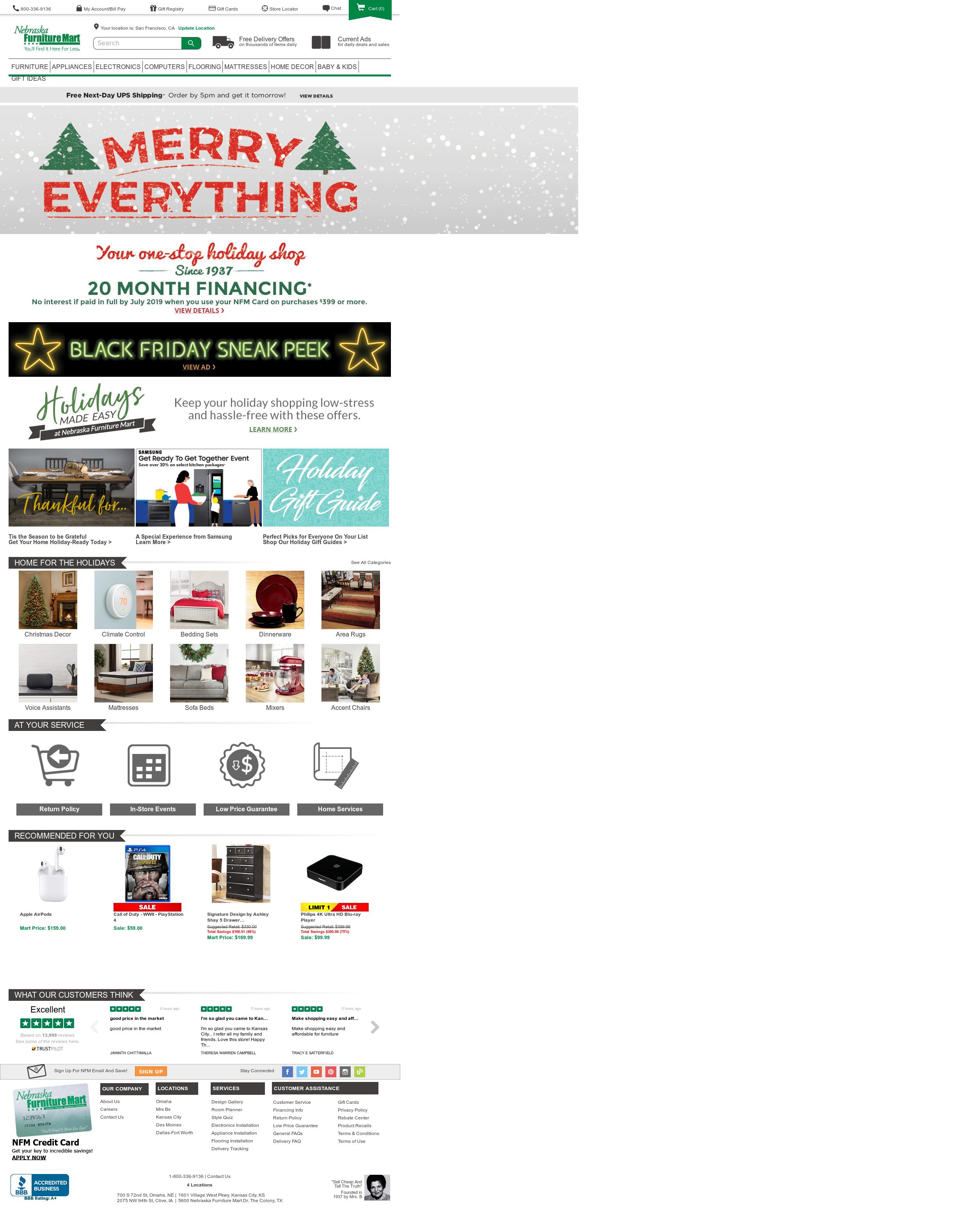 Nebraska Furniture Mart Competitors Revenue And Employees