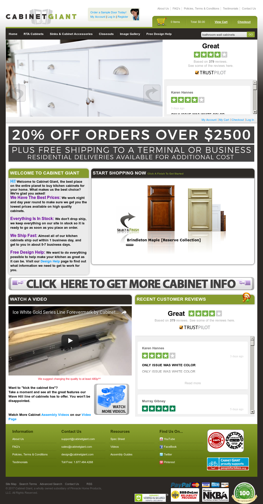 Cabinet Giant Website History