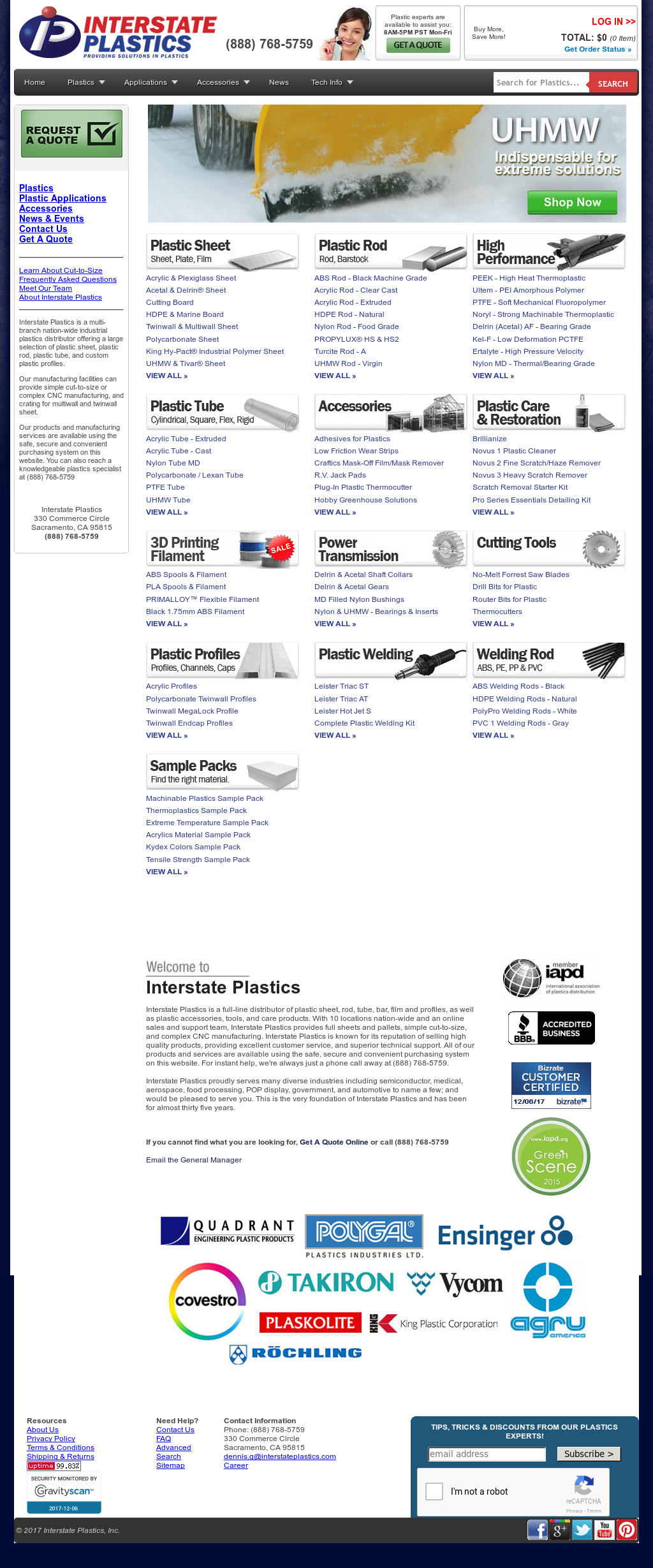 Interstate Plastics Competitors, Revenue and Employees