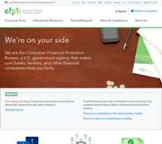 Consumer Financial Protection Bureau website history