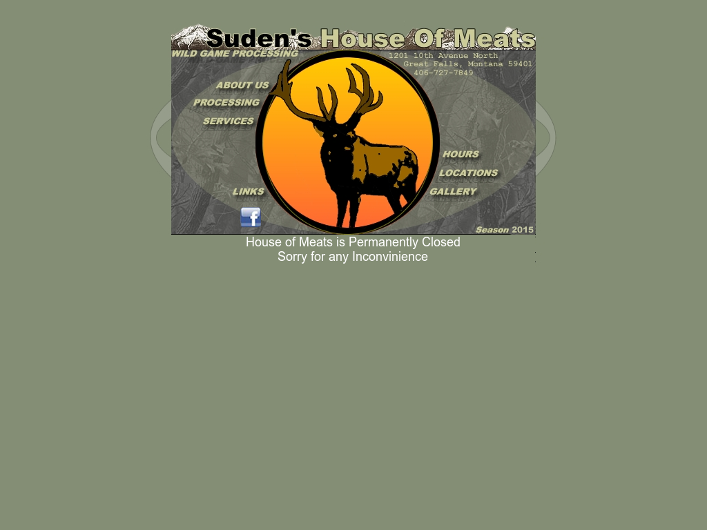 Sudenu0027s House Of Meats Website History