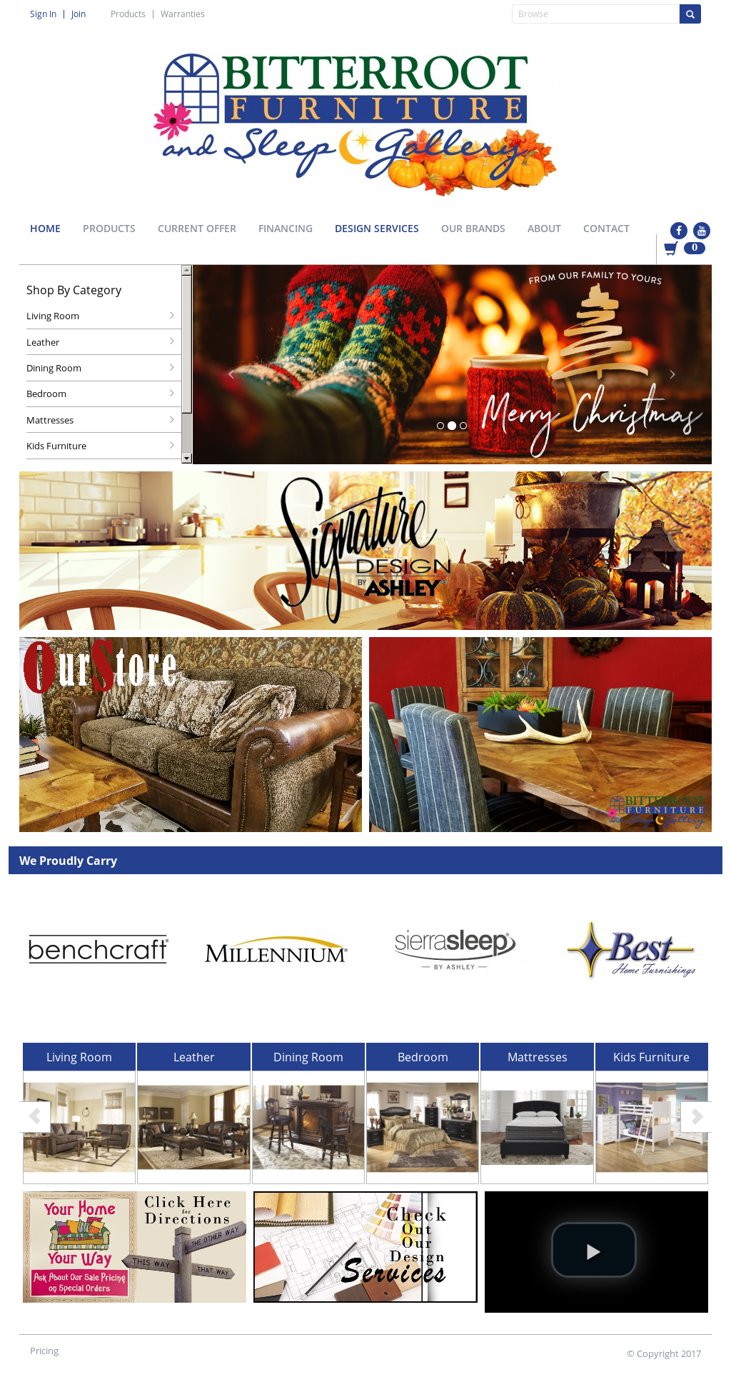 Bitterroot Furniture Website History
