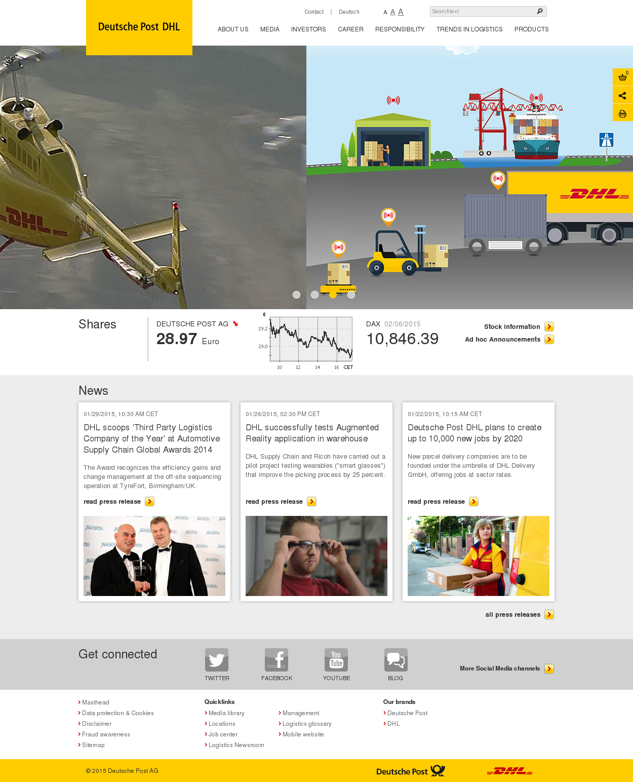 dhl company profile We love working with many of the world's greatest brands and best-known  companies click on a case study to read how we help our customers enhance.