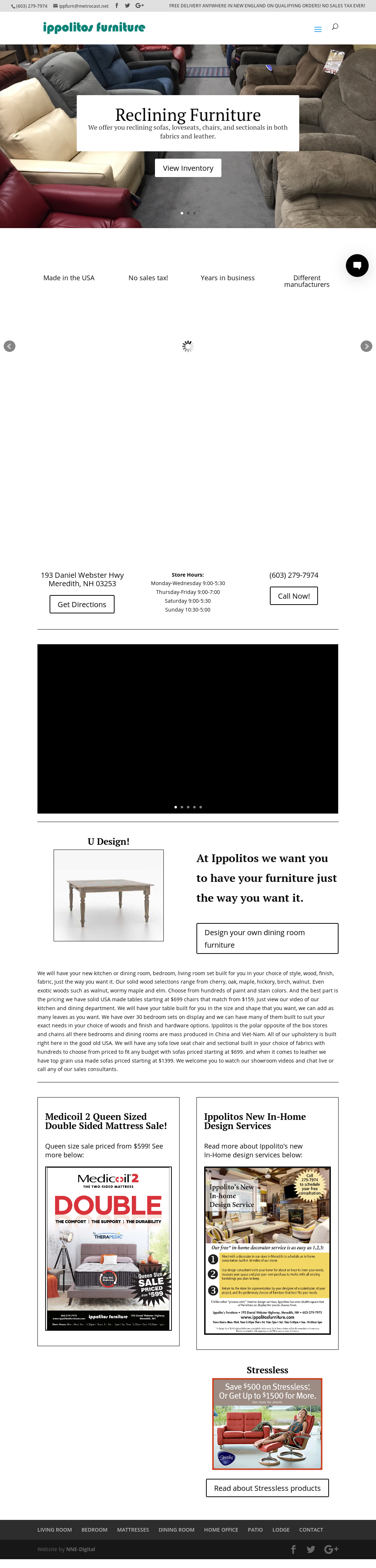 Ippolitou0027s Furnitureu0027s Website Screenshot On ...