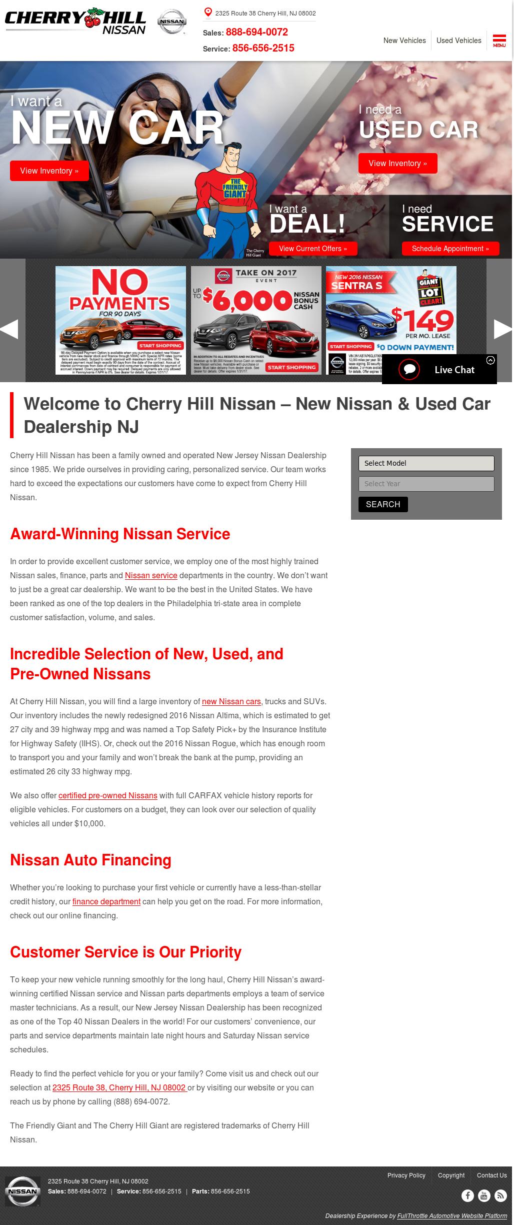 nissan cherry hill service