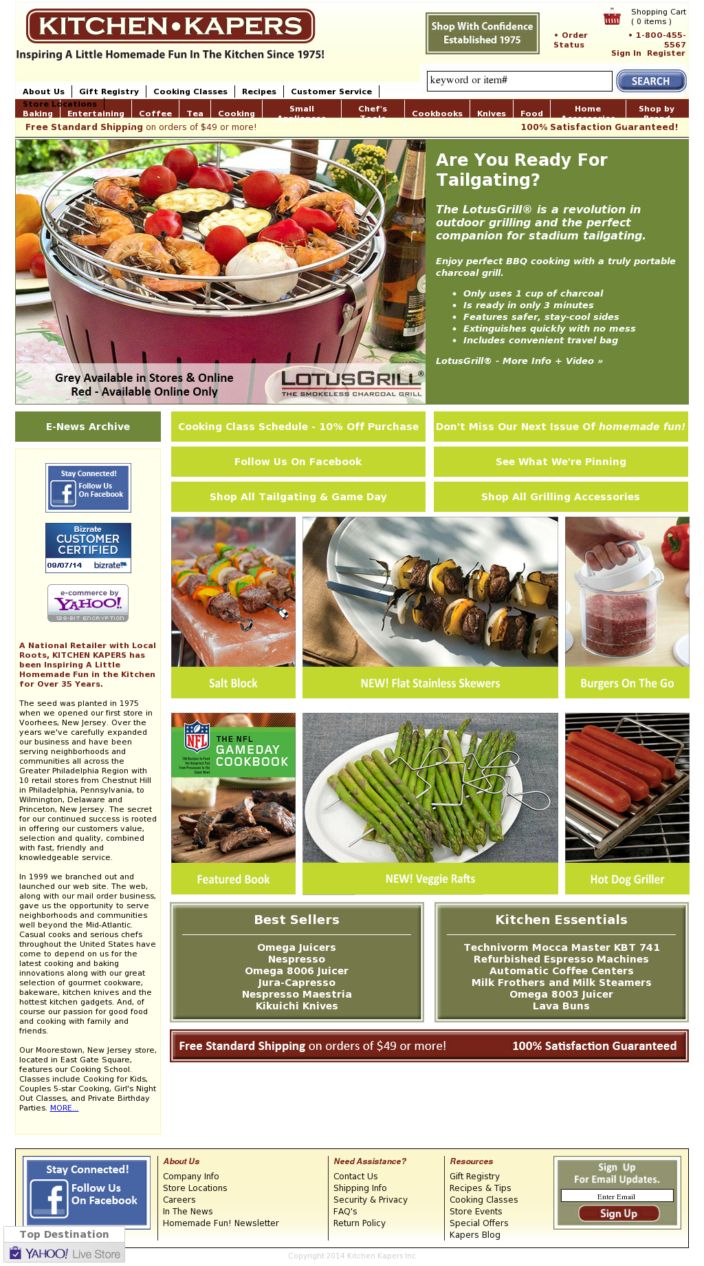 Kitchen Kapers Website History