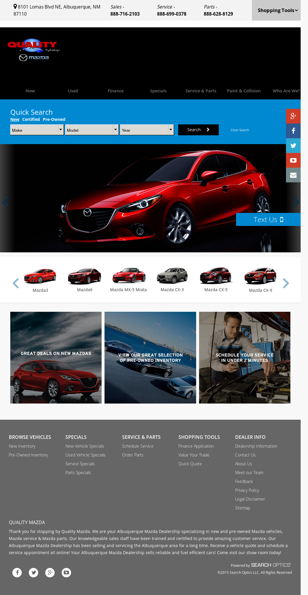 Quality Mazda Of Albuquerque Compeors, Revenue and Employees ...
