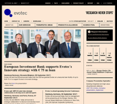 Evotec website history