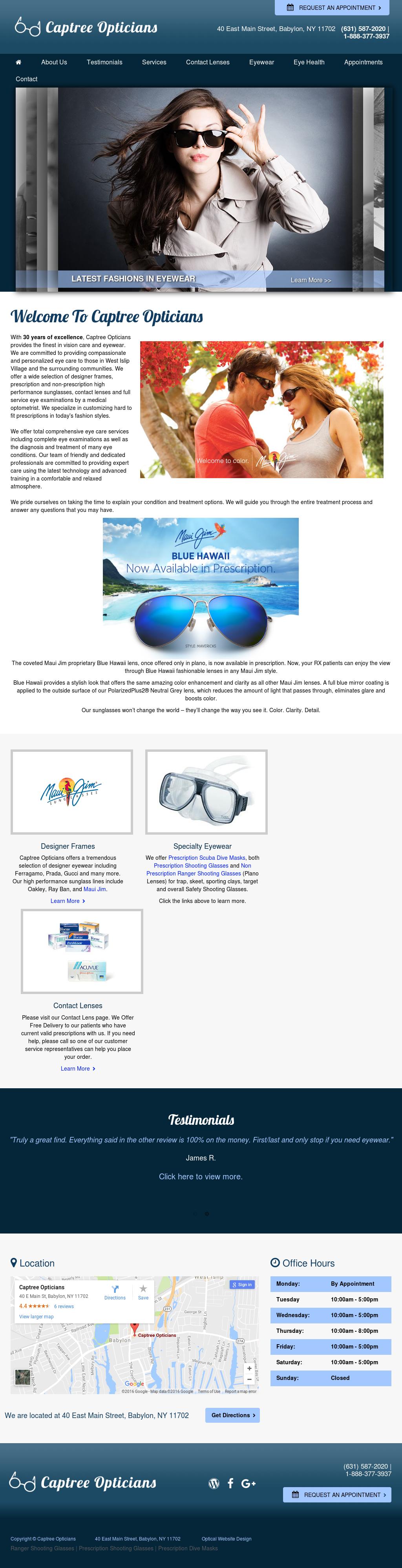 9c242193a15 Captree Opticians Competitors