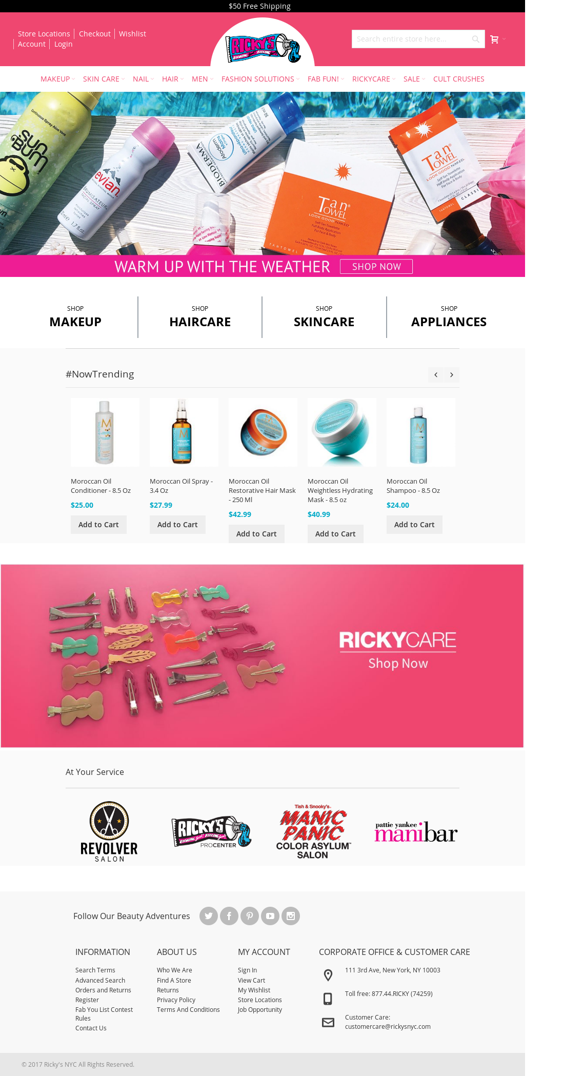Ricky S Nyc Competitors Revenue And Employees Owler Company Profile