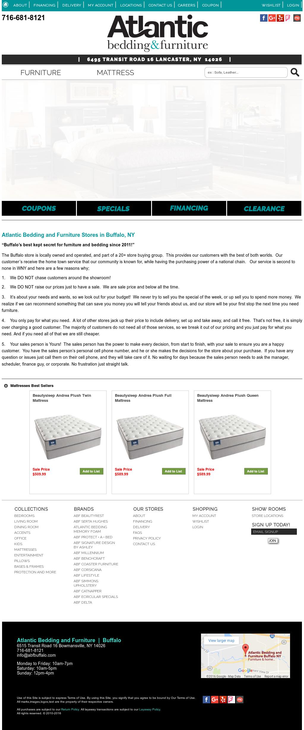 Atlantic Bedding And Furniture Buffalo Ny Competitors Revenue And