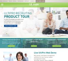 Ultimate Software website history