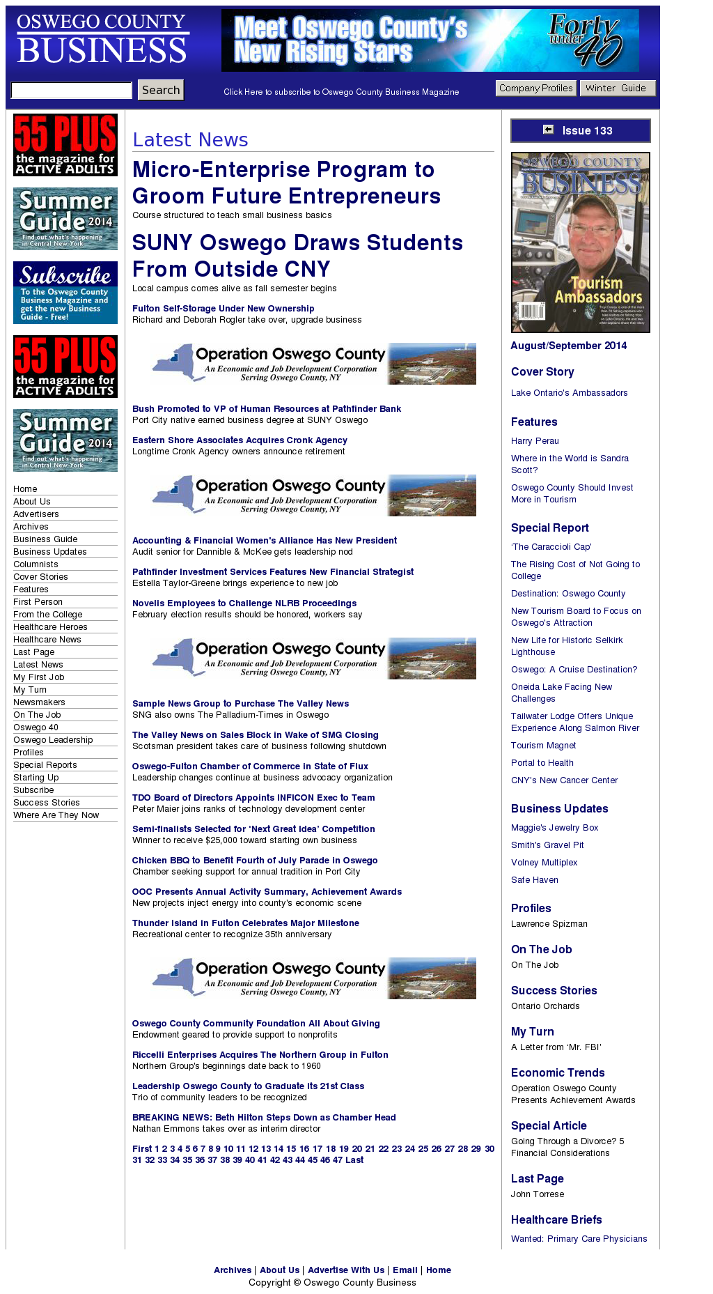 Oswego County Business Magazine Competitors, Revenue and